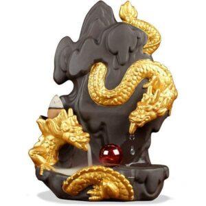 Dragon Incense Burner Serpent Statue