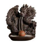 Dragon Backflow Incense Burner Ceramic