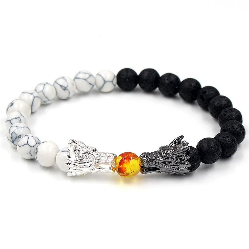 Dragon Slave Bracelet Black & White