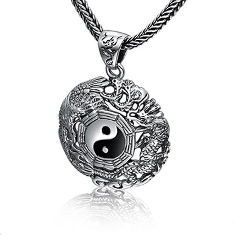 Unique Yin Yang Dragon Necklace