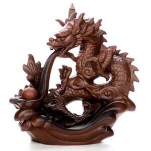 Ceramic Dragon Incense Burner Smoke Waterfall