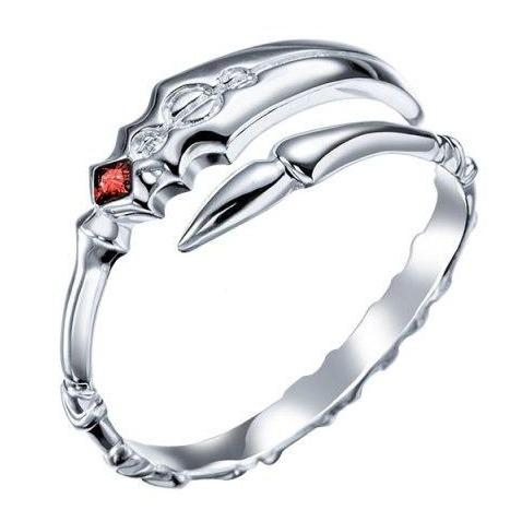 Ardent Blade Dragon Ring Silver