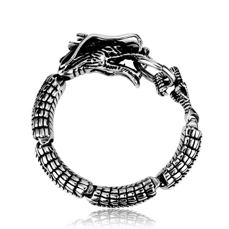 Dragon Biting his Tail Bracelet