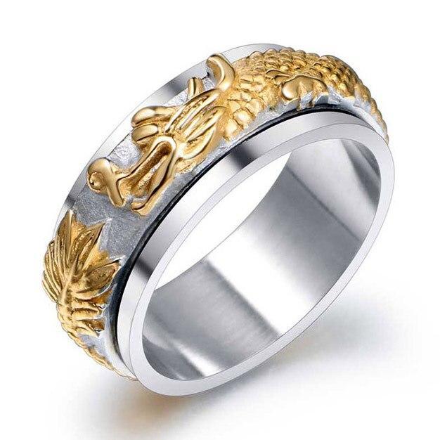 Dragon Ring For Guys Steel