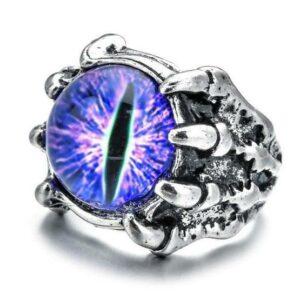 Mens Dragon Eye Ring