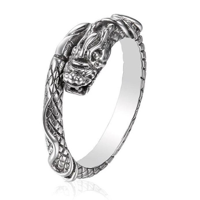 Silver Sterling Dragon Jewelry Ring