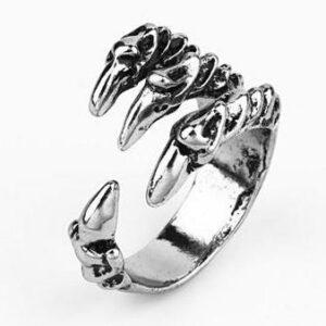 Dragon Claw Ring Silver