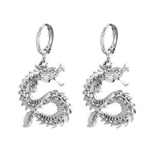 Small Crystal Dragon Earrings