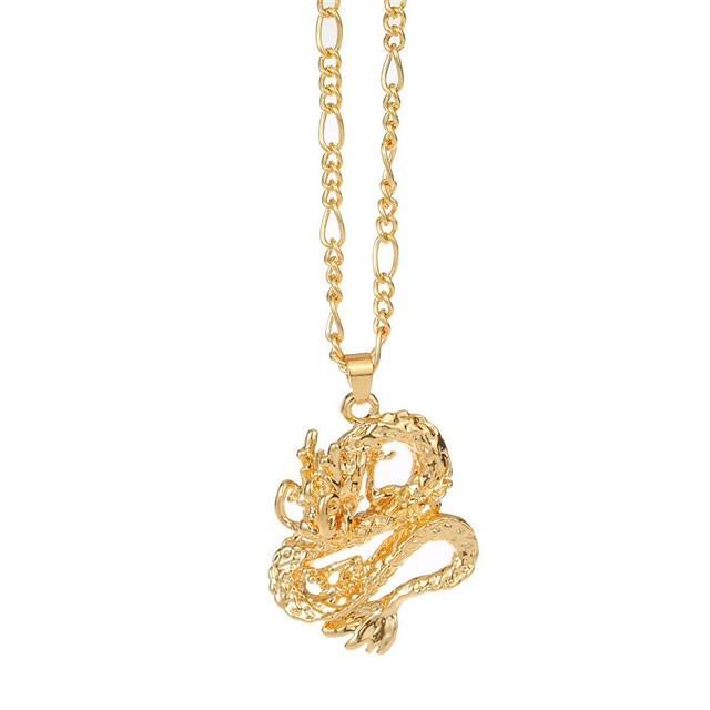 Gold Dragon Ball Necklace