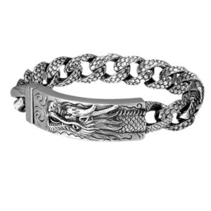 925 Sterling Silver Dragon Bracelet
