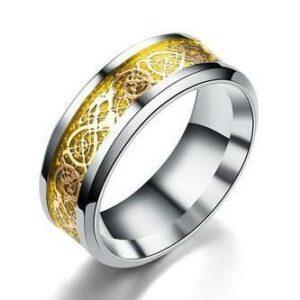 Mens Celtic Dragon Ring