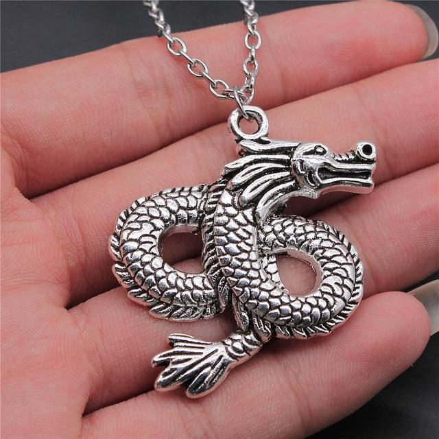 Volcanic Dragon Necklace Silver
