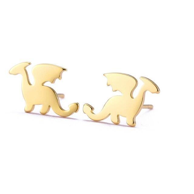 Minimalist Dragon Earrings