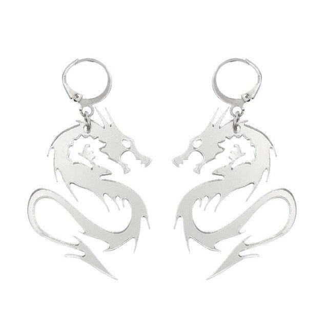 Zinc alloy dragon earrings
