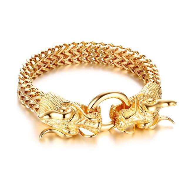 Bracelet Golden Japanese Dragon