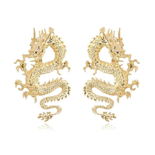 Chinese Dragon Earrings