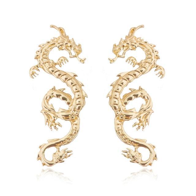Dragon Dangle Earrings