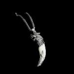 Mens Dragon Pendant Tooth