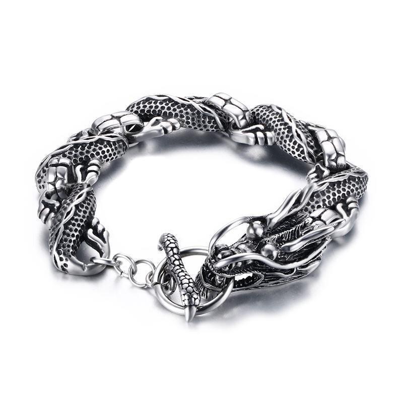 Silver Dragon Bracelet Gemstones