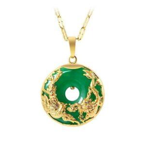 Jade Dragon Pendant