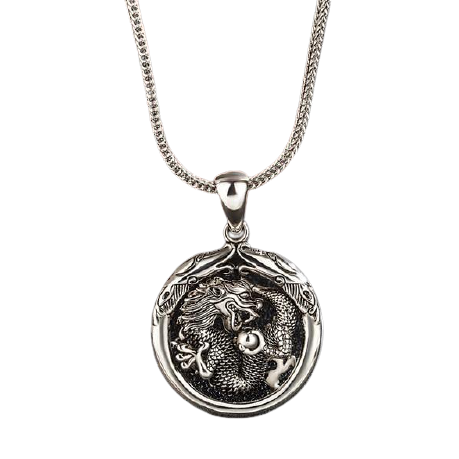 Full Sterling Silver Dragon Pendant