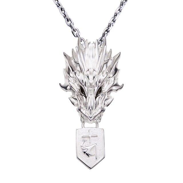 Silver Dragon Necklace