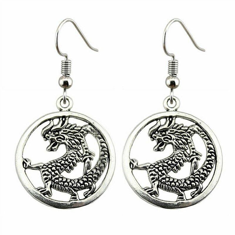 Japanese Dragon Earrings