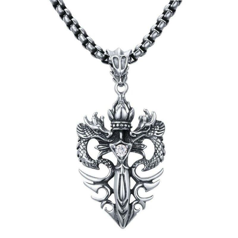 Royal Sword Dragon Necklace