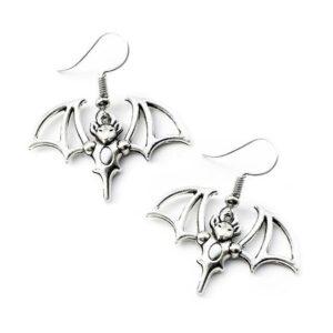 Dragon Earrings Silver Alloy