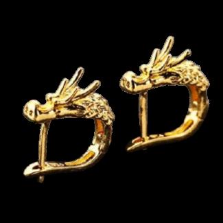 Half Creole dragon Earrings