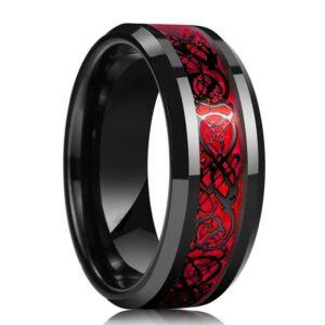 Tungsten Dragon Ring