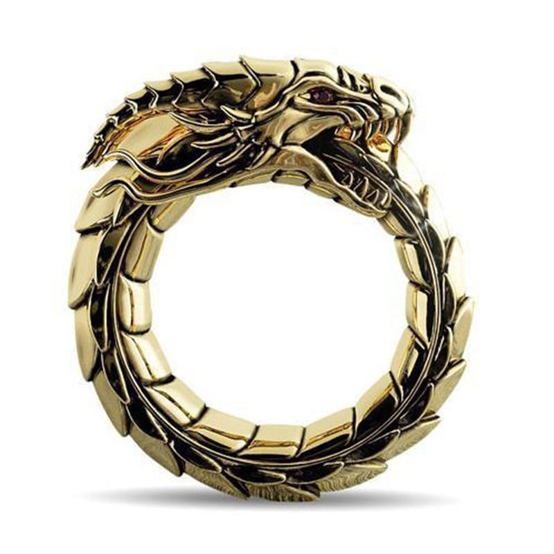 Gold Dragon Tail Ring