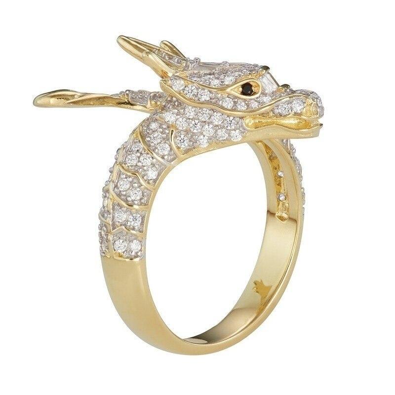 Shiny Dragon Diamond Ring
