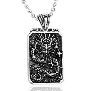 Engraved Dragon Pendant