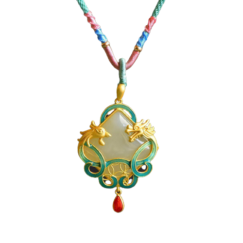 Fantasy Dragon Necklace Tourmaline