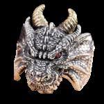 Evil Dragon Head Ring