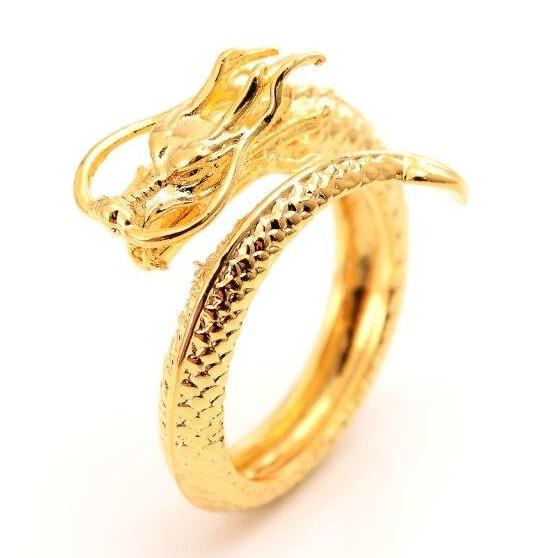 Vintage Gothic Dragon Head Ring