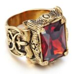 Vintage Golden Dragon Signet Ring