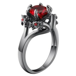 Dragon Engagement Ring Duality