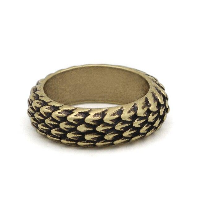 Gold Dragon Scale Ring