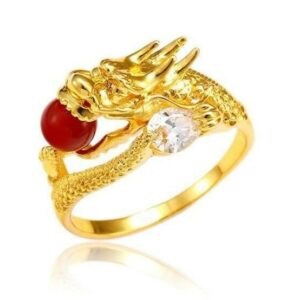 24k Gold Plated Dragon Ring