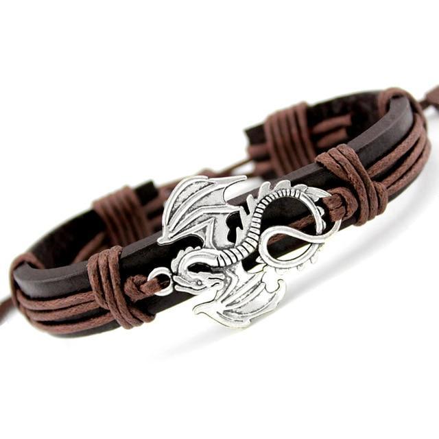 Leather Dragon Bracelet Cute