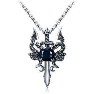 Necklace Pendant Dragon Sword