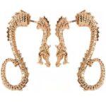 Cuff Golden Dragon Earrings