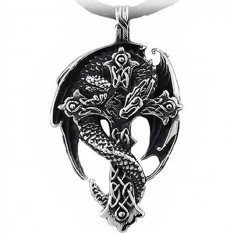 Dragon Cross Necklace Celtic