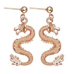 Golden Draconic Earrings
