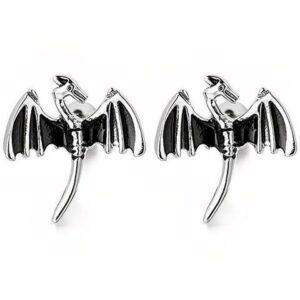 Dragon Wing Stud Earrings