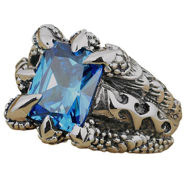 Silver Claw Dragon Ring