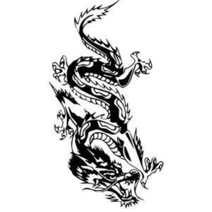 Dragon Sticker Chinese Style
