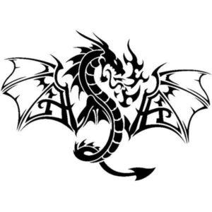 Dragon Sticker Decoration 42cm